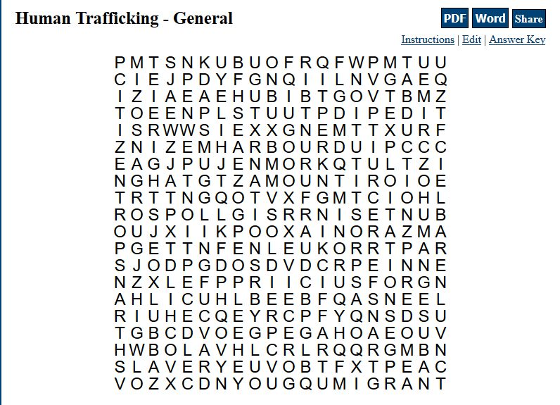 ht101 word search